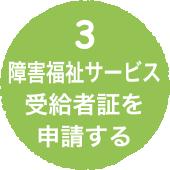 手順その3 障害福祉サービス受給者証を申請する